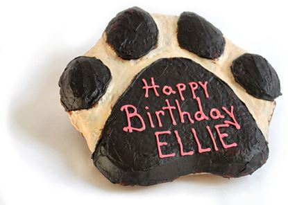 Picture of Peanut Butter Pumpkin Paw Print Cake