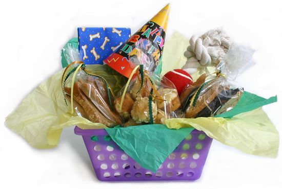 Picture of Dog Birthday Gift Basket