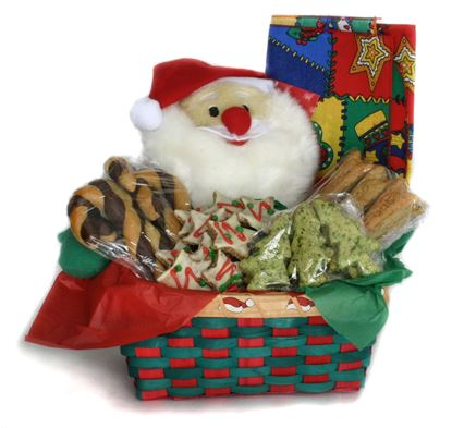 Picture of Christmas Dog Treat Basket