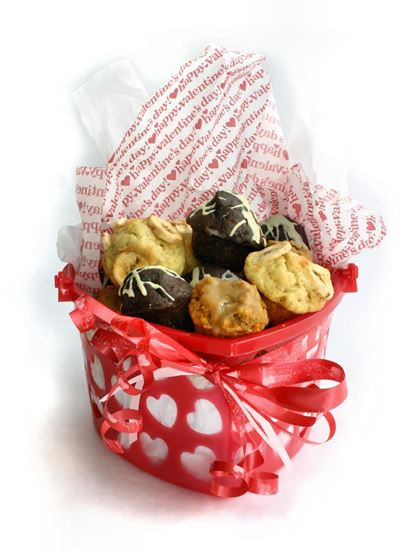 Picture of Heart Shaped Muffin Basket