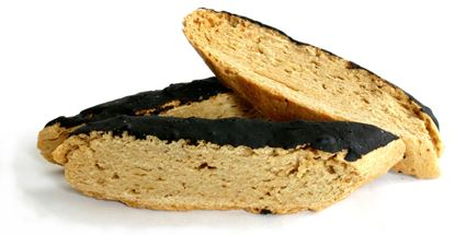 Picture of Peanut Butter Biscotti topped with Carob