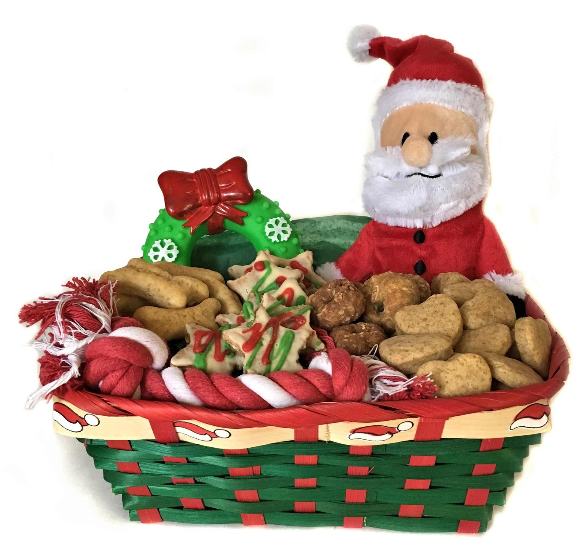 Small dog holiday gift basket healthy hound bakery treats that picture of small dog holiday gift basket negle Images