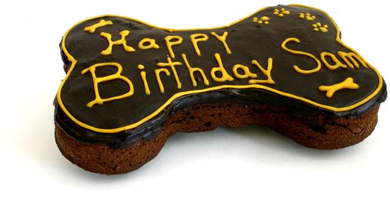 Picture of Dog Bone Brownie Cake