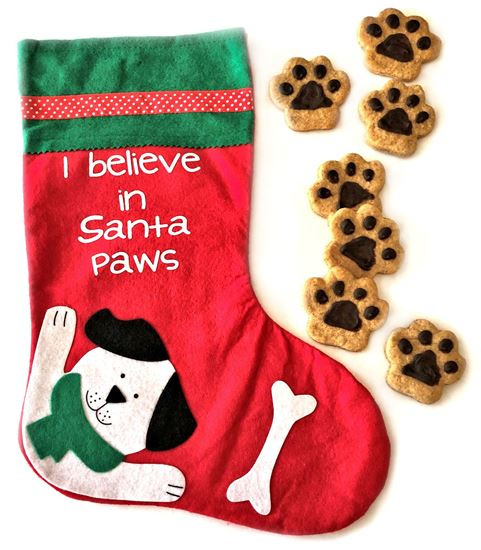Picture of Paw Prints with Stocking